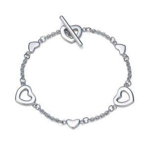 *Tiffany & Co.* Silver Heart Links Lariat Bracelet